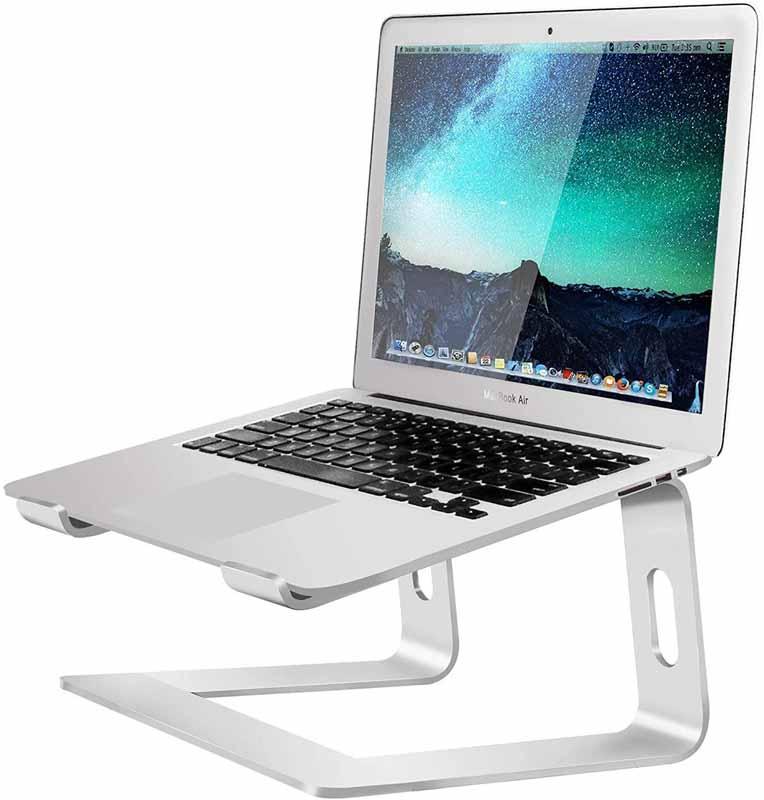 Bellkey Soporte para Port/átil Soporte para Laptop para Aluminium Mesa para Ordenador para 10-15.6 Pulgadas Soporte Ordenadores Port/átiles Bases de Port/átiles para Notebook PC Laptop MacBook
